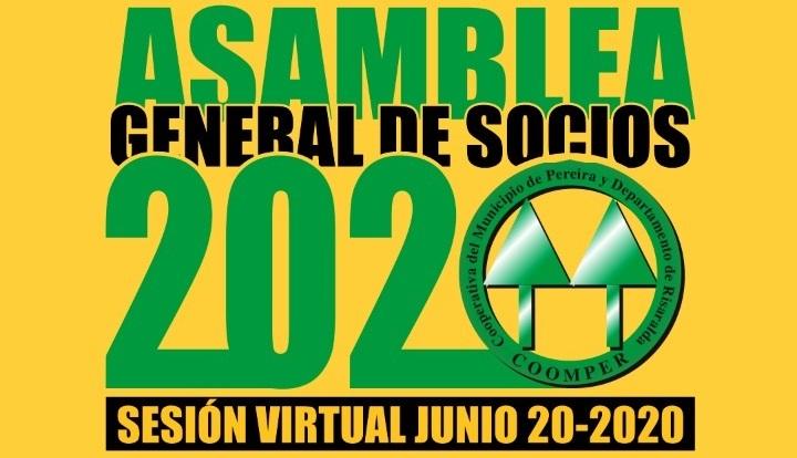 Convocatoria Asamblea Anual de Asociados 2020